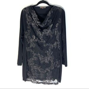 Exelle Tunic with Velvet Floral Textured O…